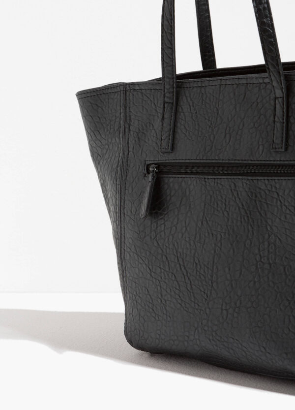 Textured-effect shopping bag | OVS