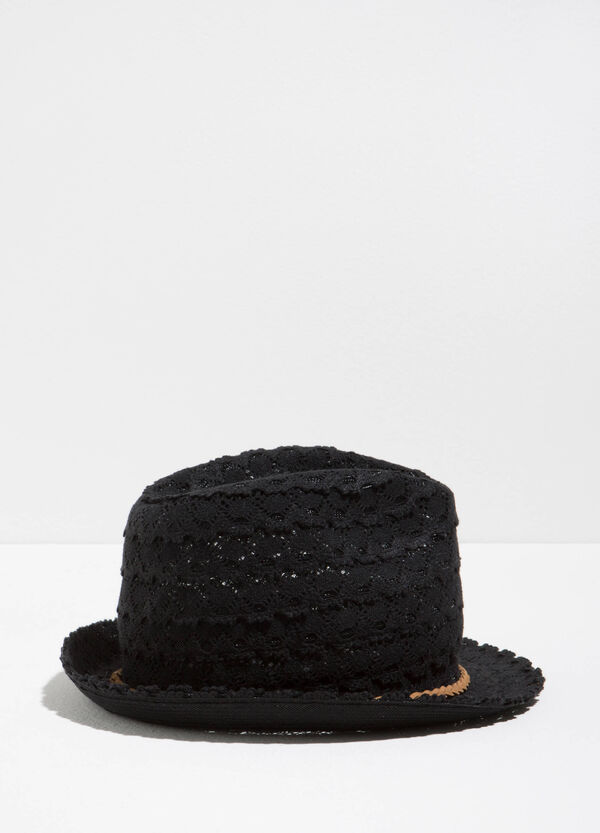 Cotton lace hat with wide brim | OVS
