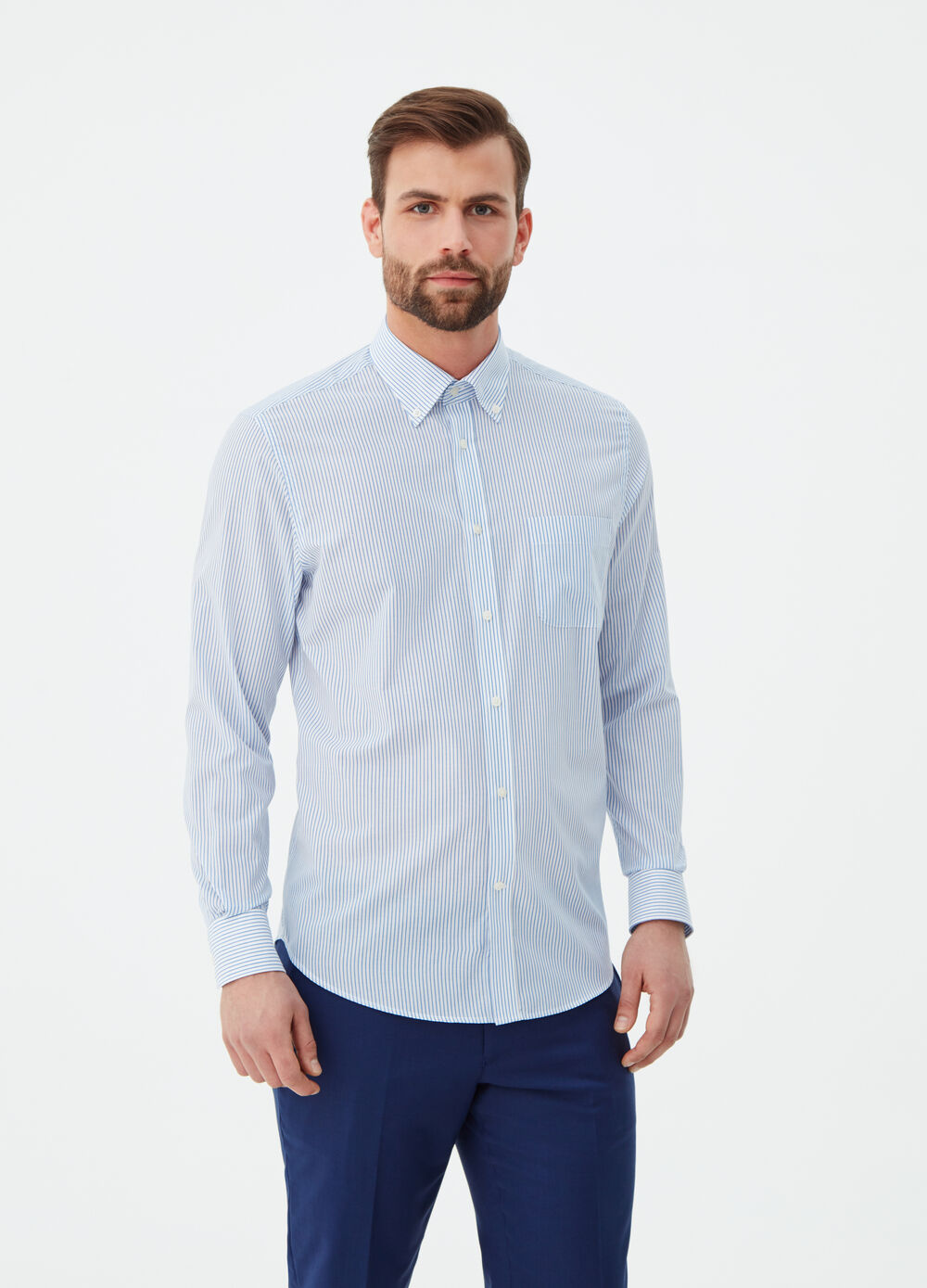 Camicia regular fit colletto button-down