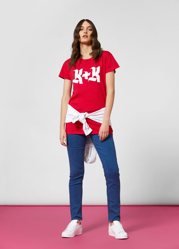 T-shirt con stampa K+K for OVS
