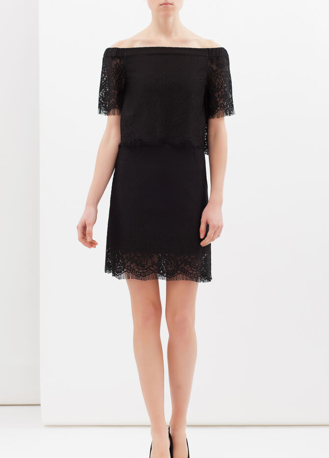 Short stretch lace dress