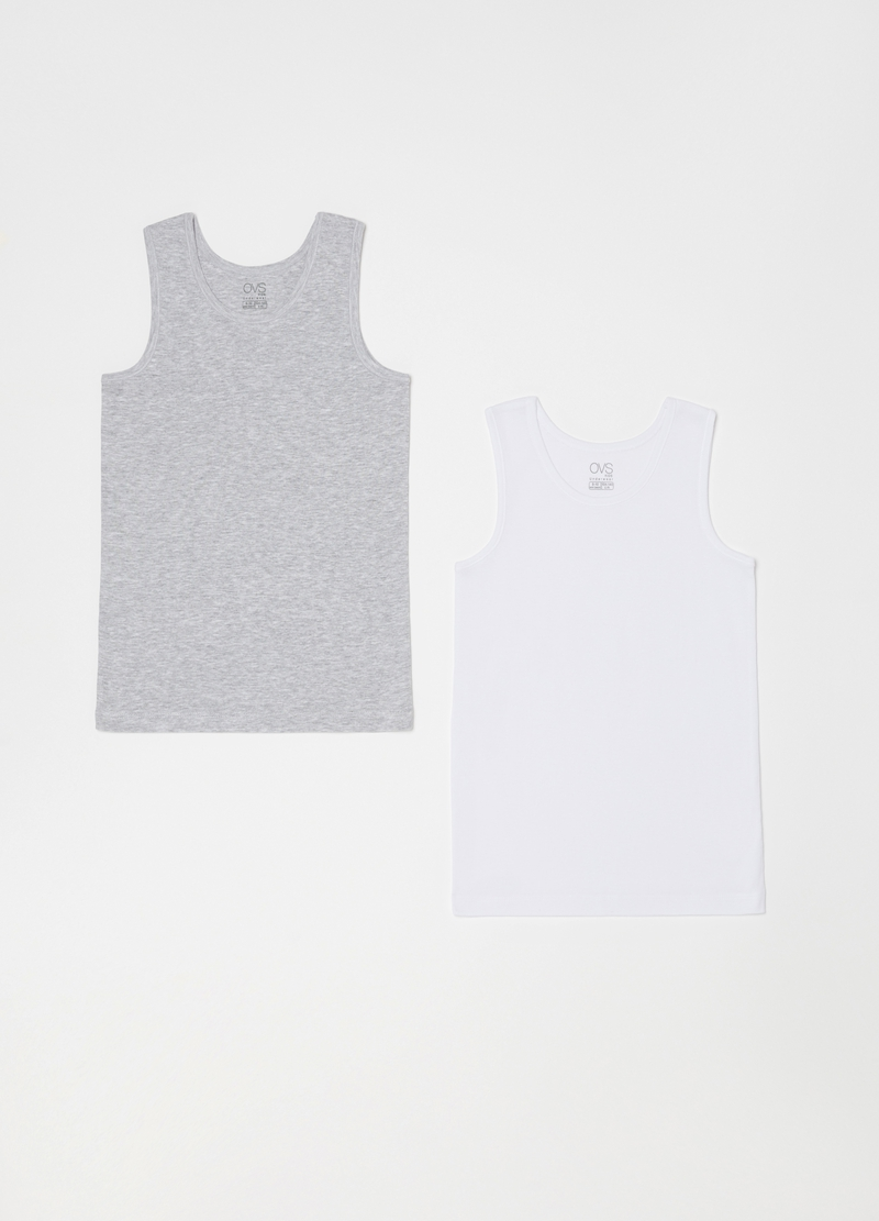 Two-pack racerback vests with ribbing image number null