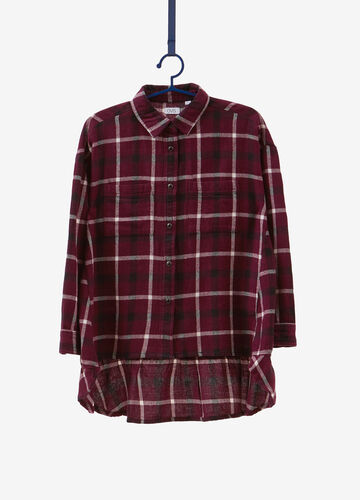 100% cotton check patterned shirt