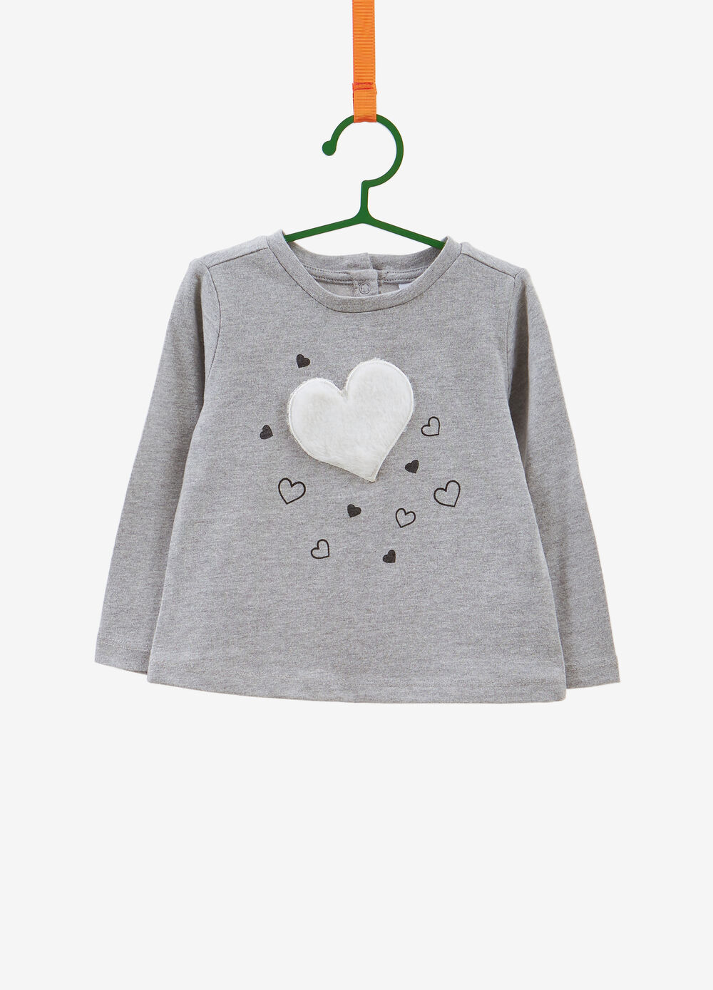 100% cotton T-shirt with heart patch