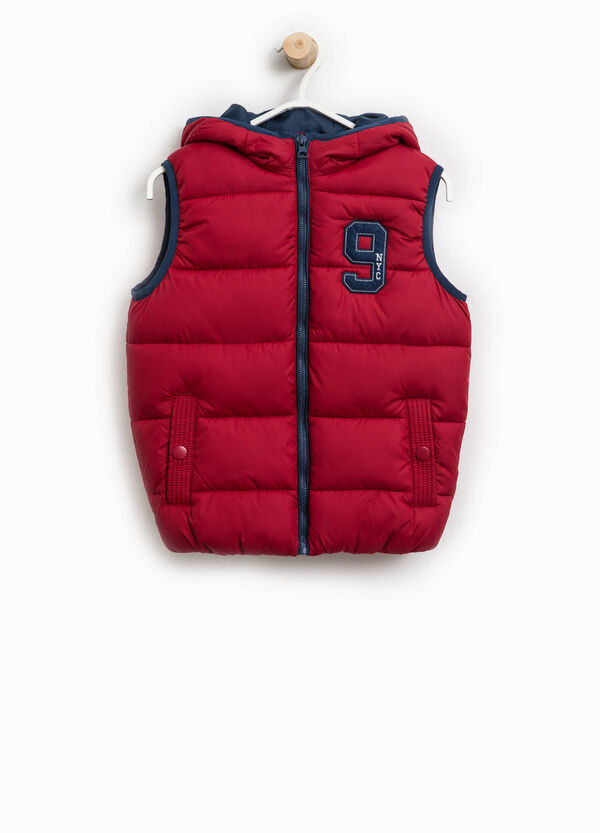 Padded gilet with lettering patch | OVS