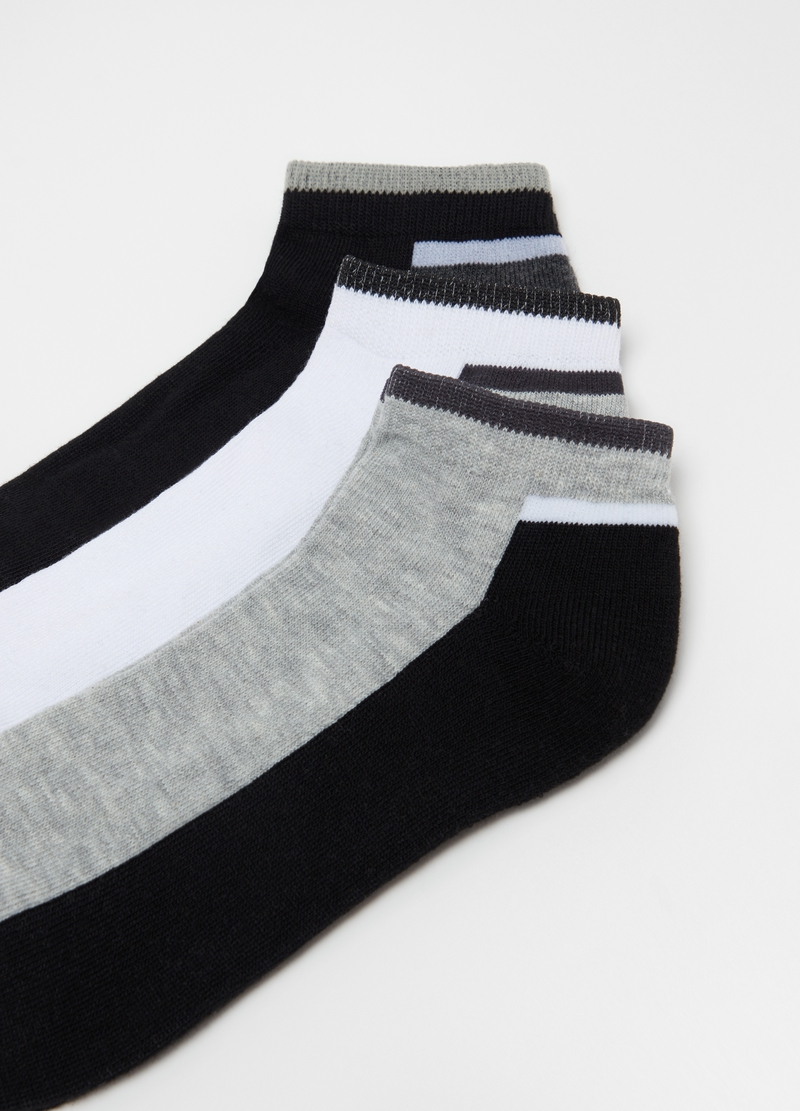 Three-pack short two-tone socks image number null