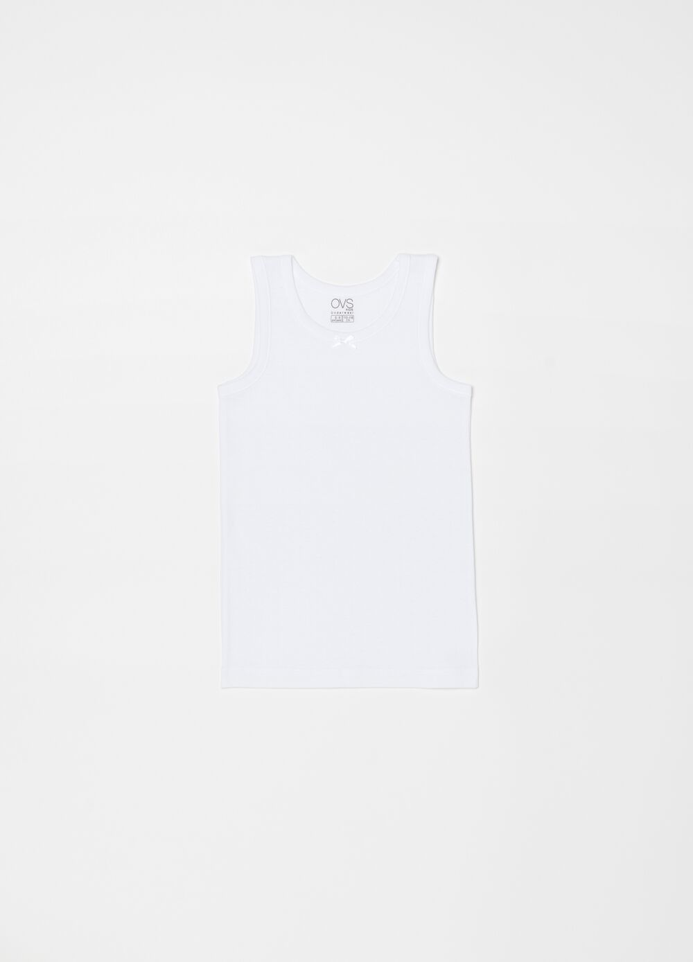 100% organic cotton vest with bow