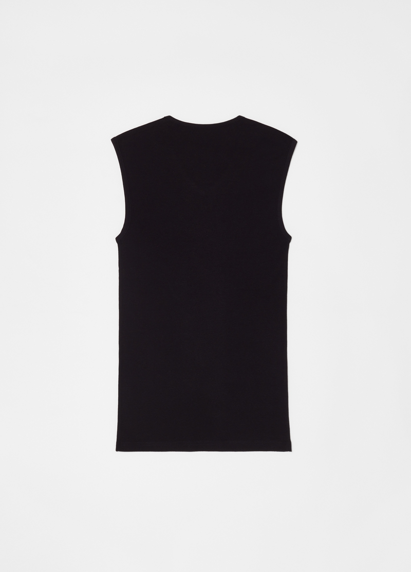 100% cotton V-neck racerback vest image number null