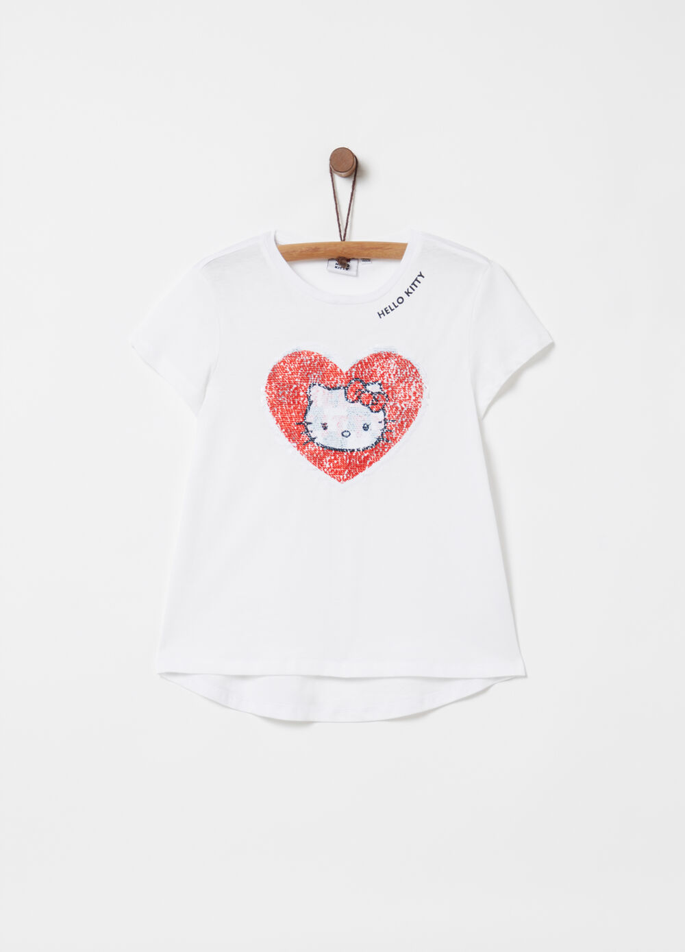 Hello Kitty print T-shirt with sequins