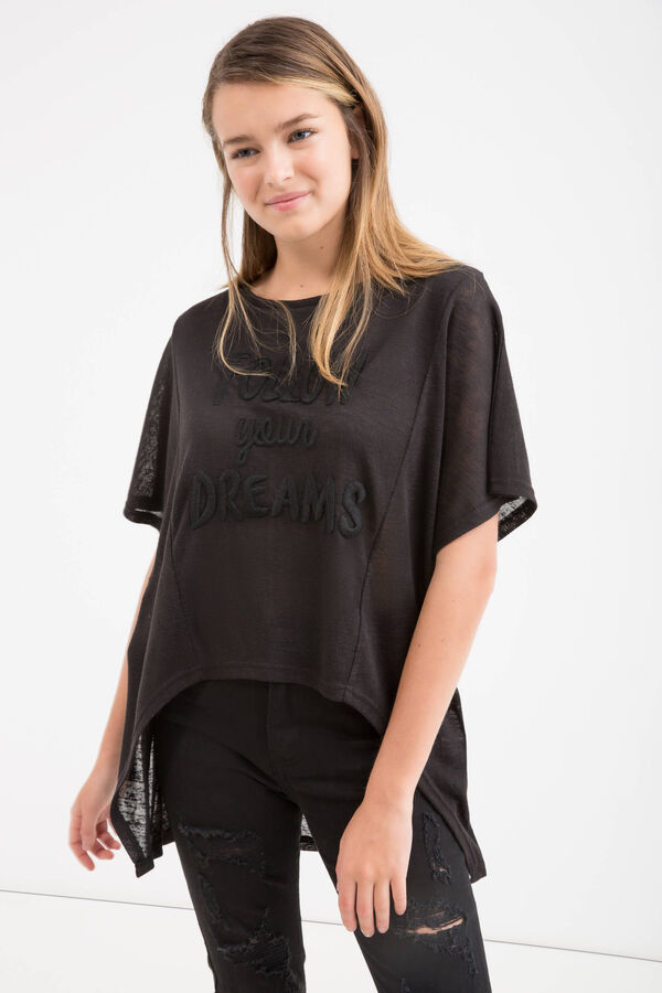 T-shirt con ricami lettering Teen | OVS