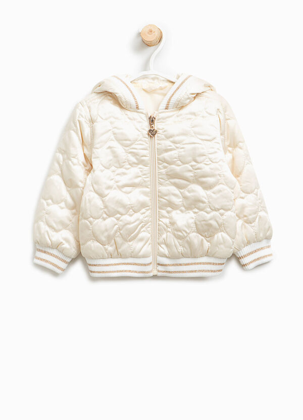 Jacket with heart weave | OVS