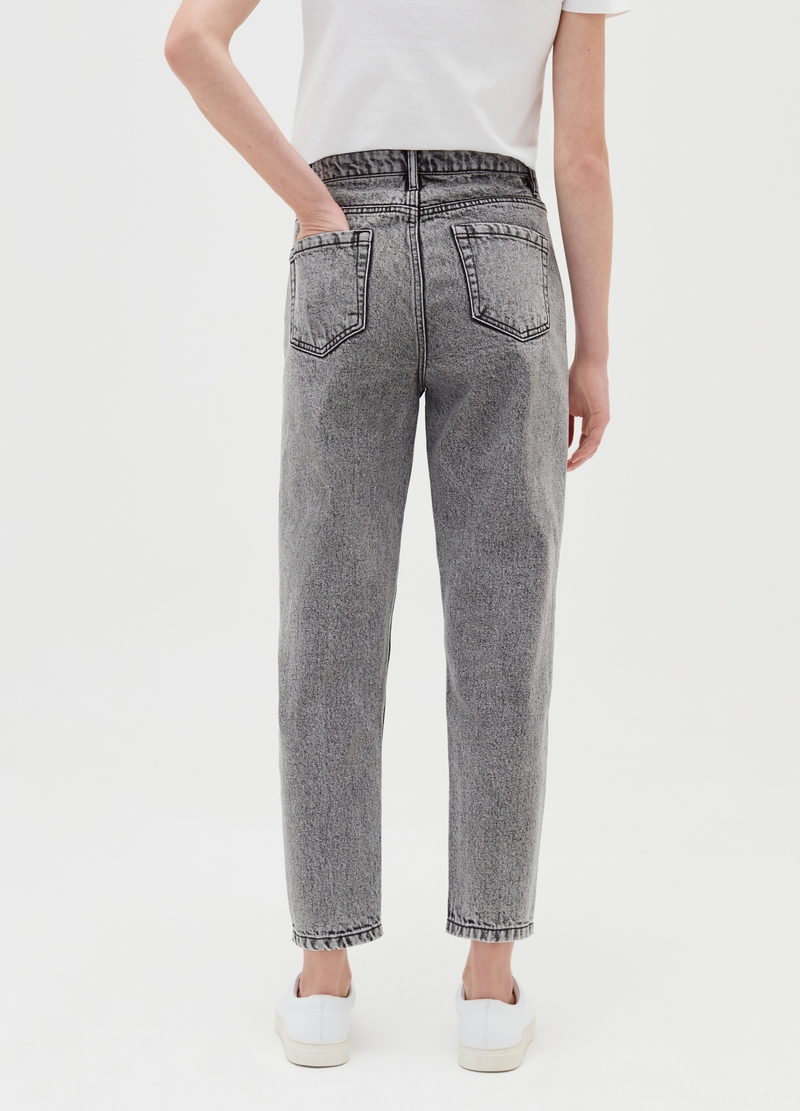 Slouchy jeans with high waist and darts image number null