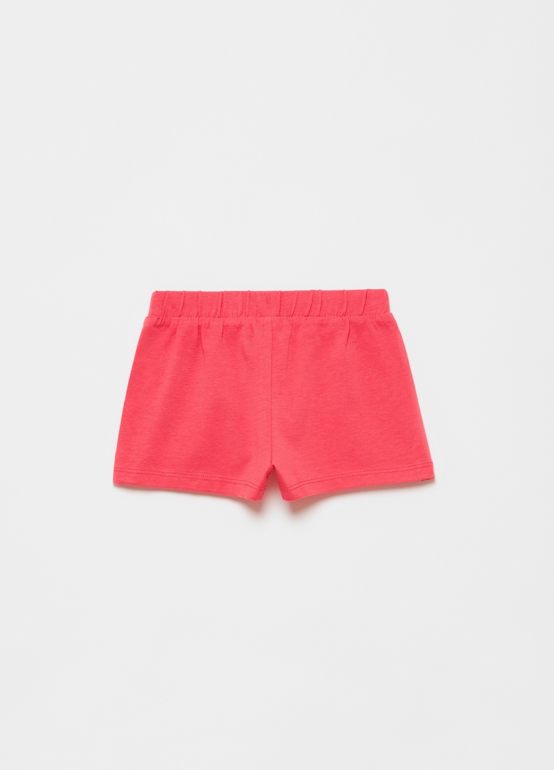 Shorts in cotone stretch tinta unita image number null