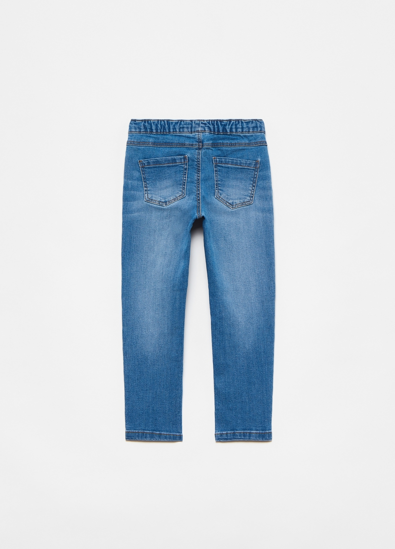 Jeggings con ricami floreali image number null