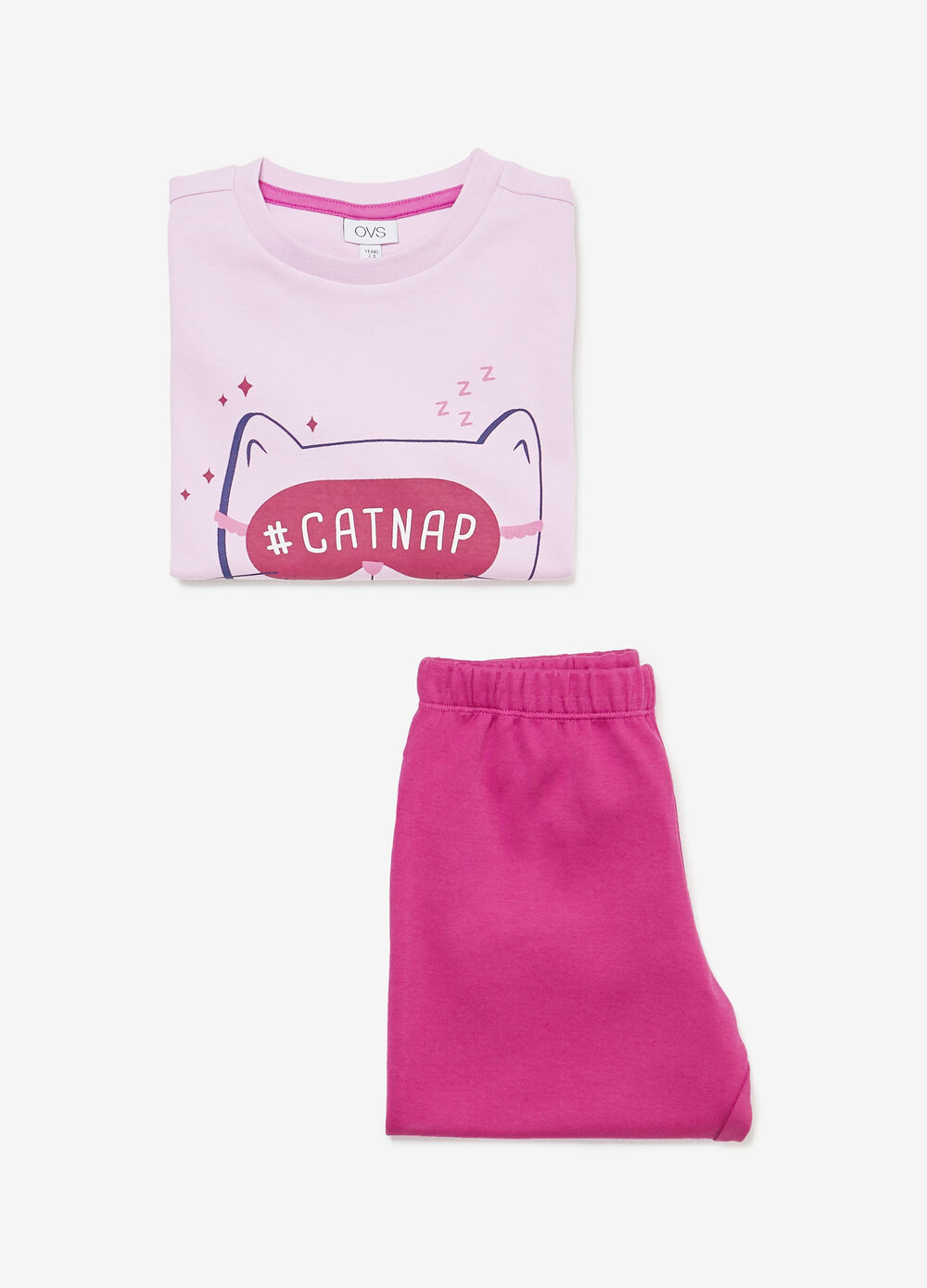 100% cotton pyjamas with cat print