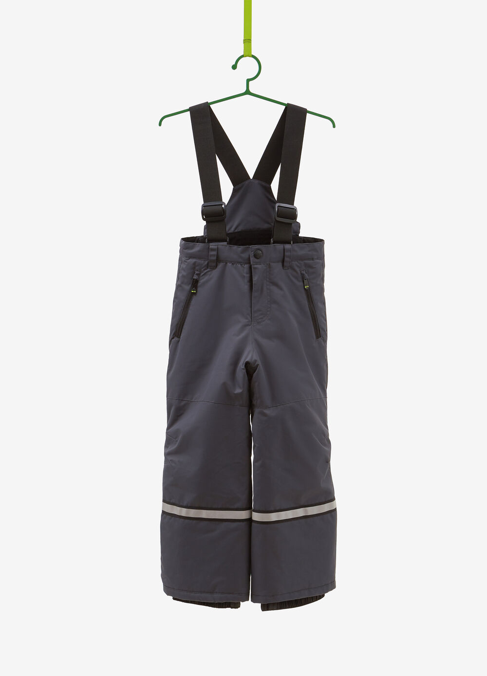 Dungaree-style ski trousers