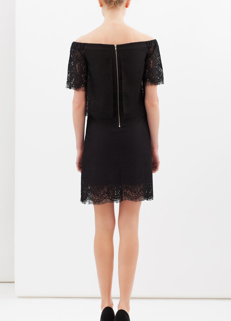 Short stretch lace dress image number null
