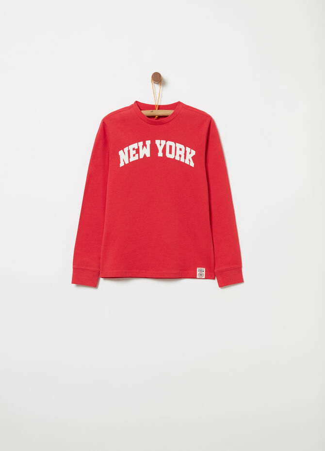 Jersey T-shirt with print on the front