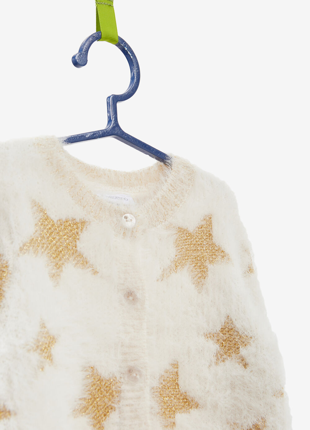 Glitter star pattern knitted cardigan