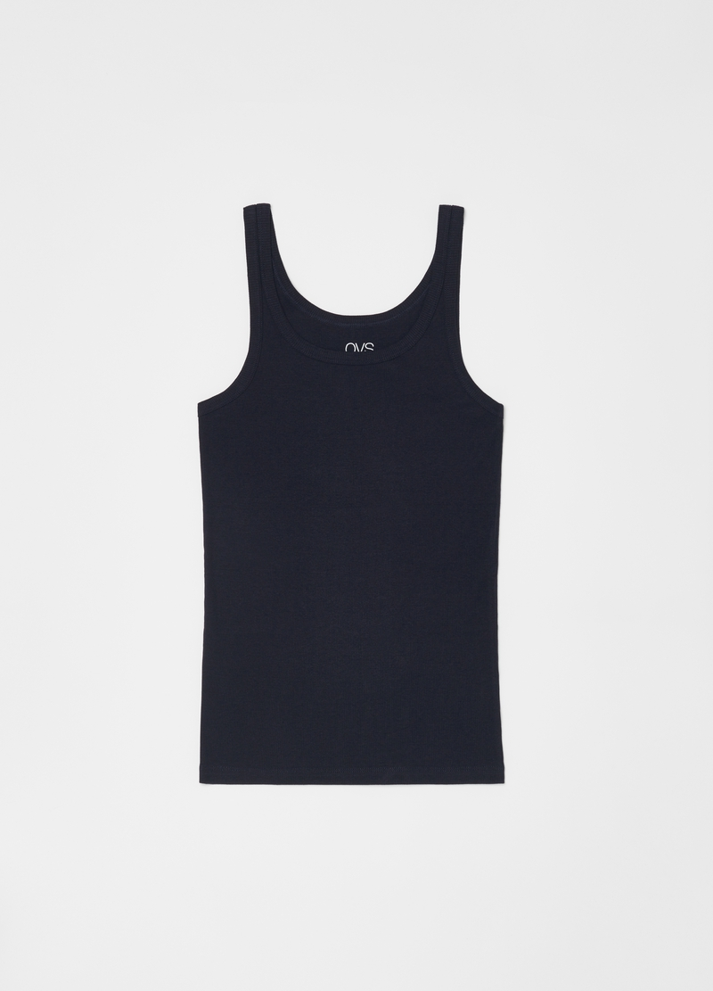 Solid colour racerback vests with round neck image number null