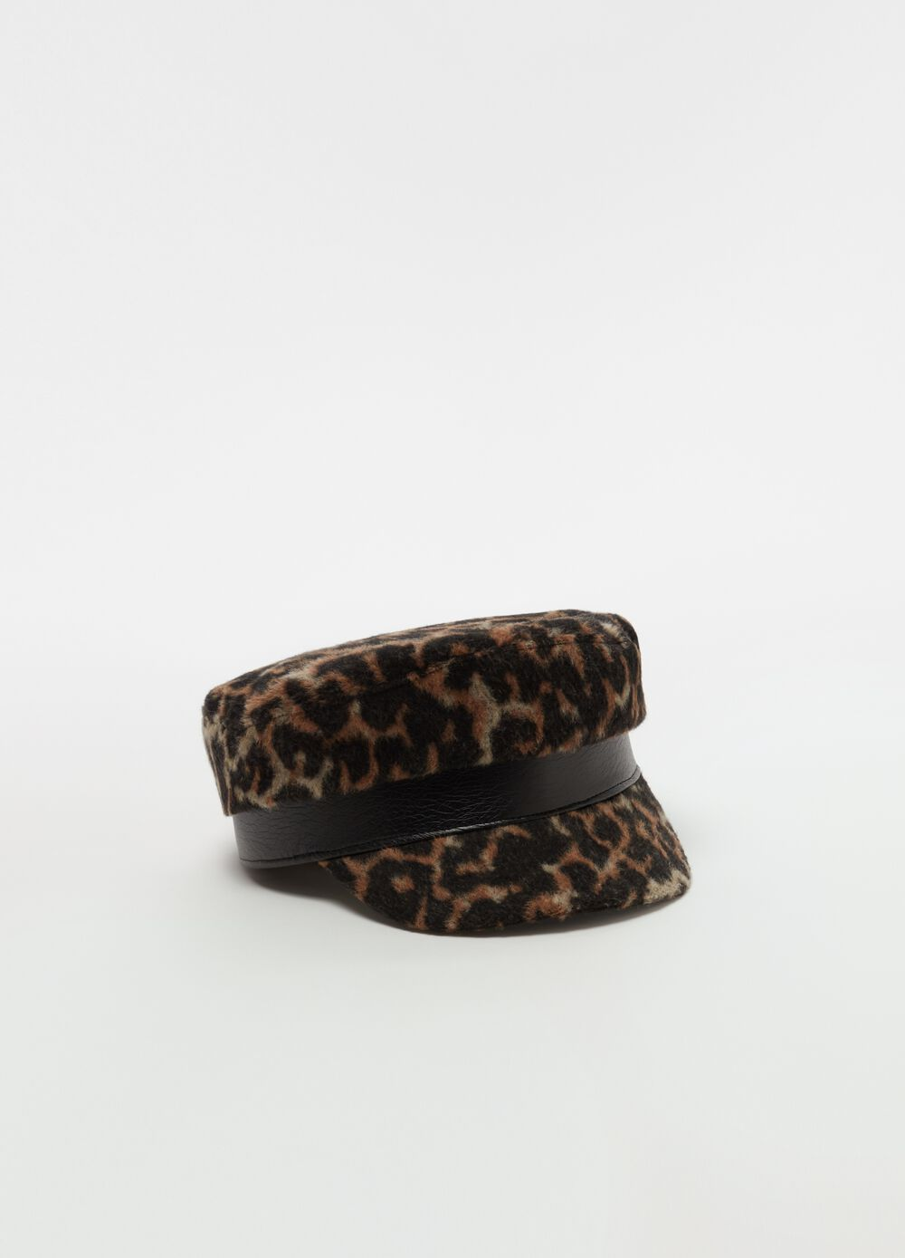 Baker boy hat with animal print