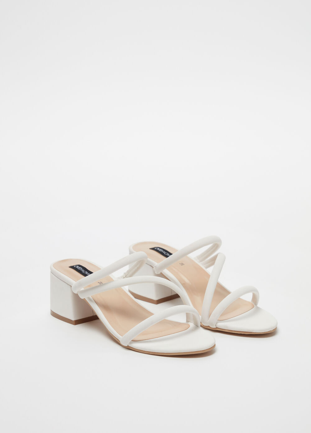 Solid colour microfibre sandals