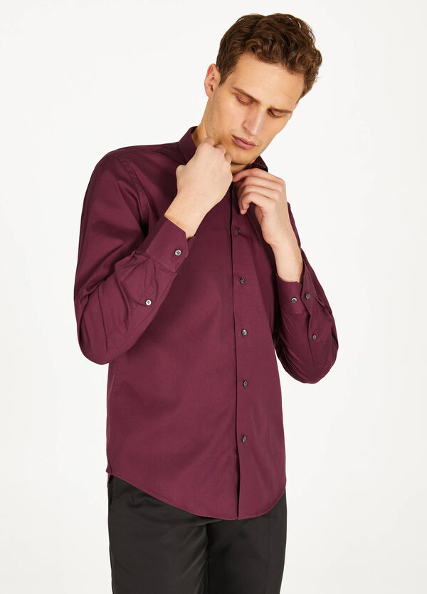 Slim-fit formal stretch shirt