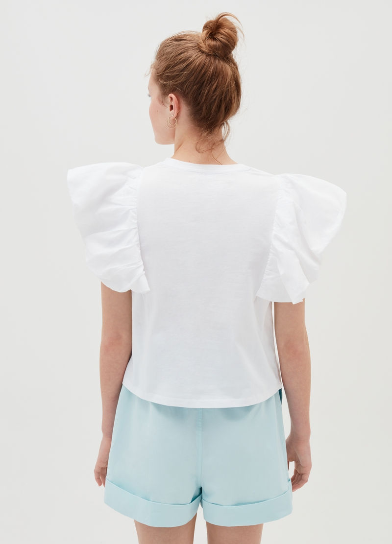 Baby Angel T-shirt with flounced sleeves image number null