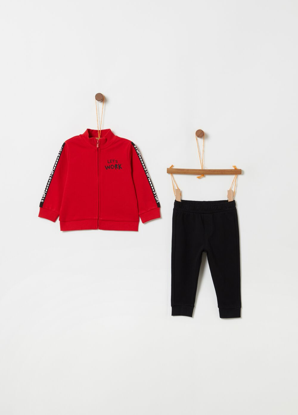 Ribbed top and trousers jogging set