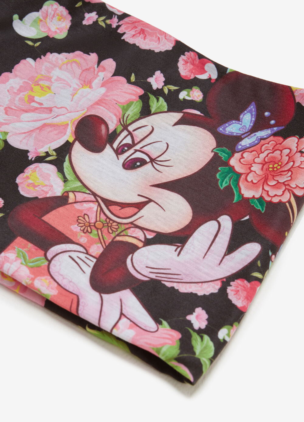 Minnie Mouse neck warmer with floral pattern