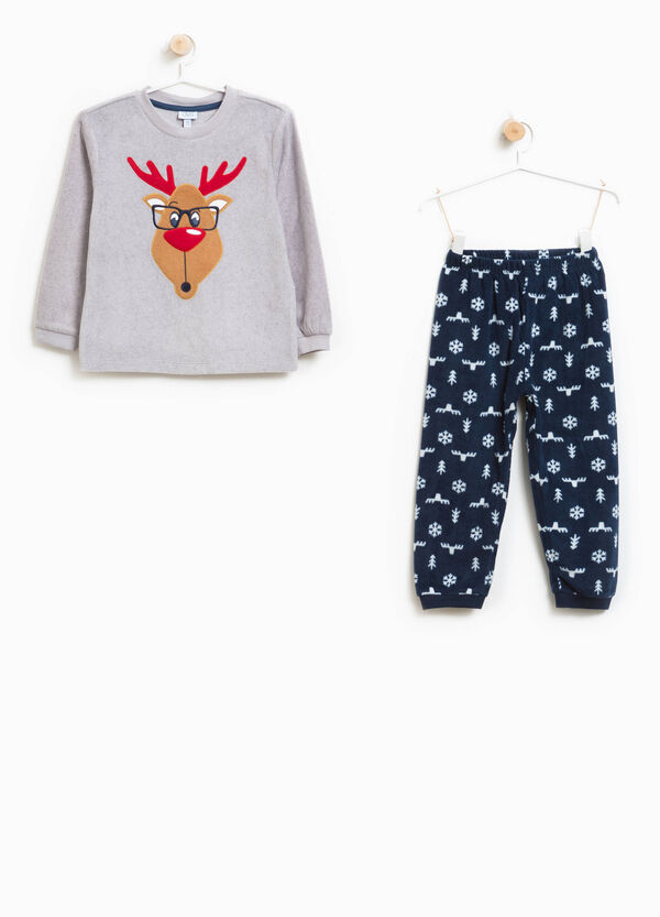 Pyjamas with Christmas pattern and reindeer patch | OVS