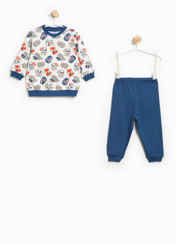 Organic cotton pyjamas with animal print | OVS