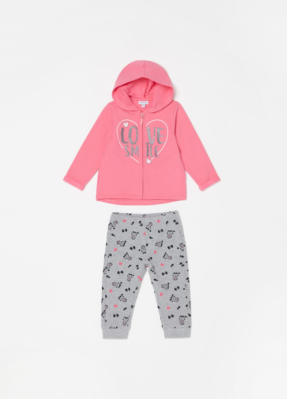 Jogging set in cotone stretch e fantasia