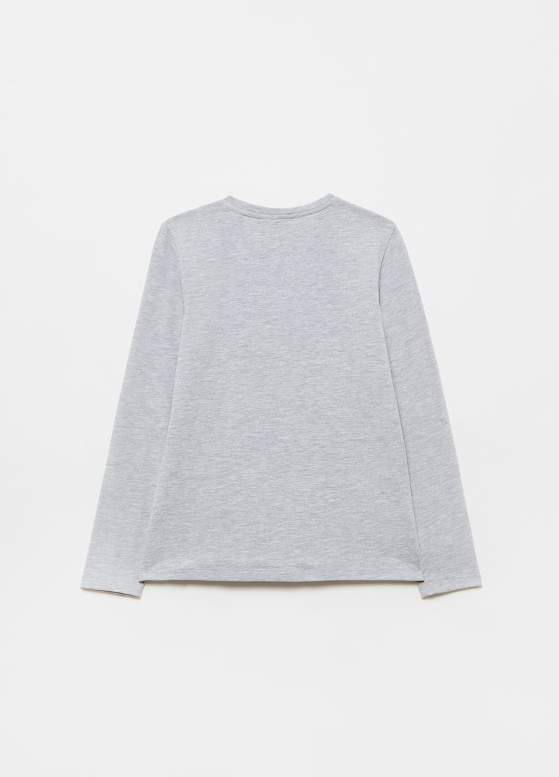 Long-sleeved T-shirt in mélange cotton image number null