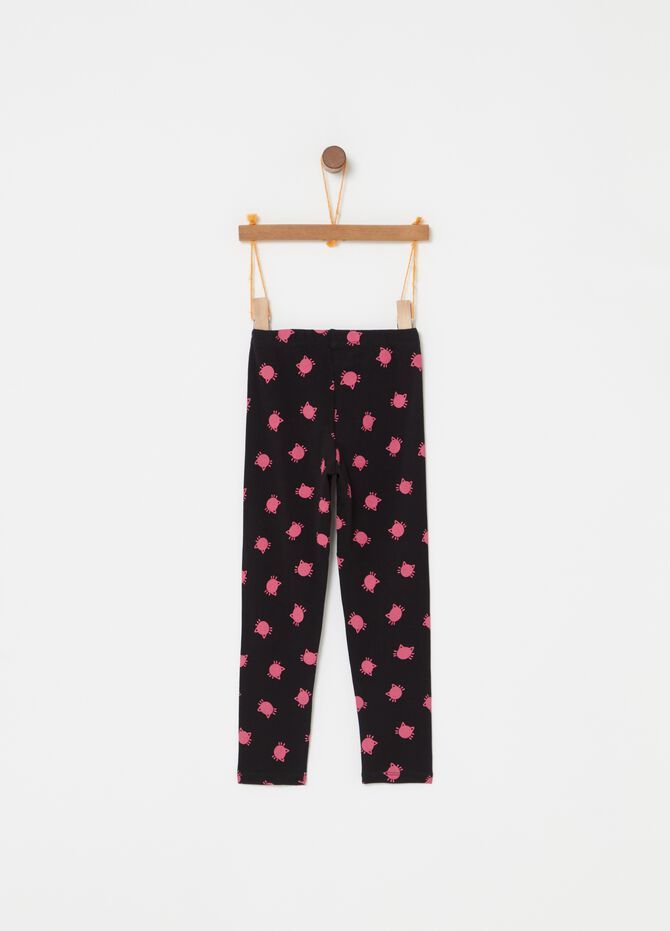Leggings stampa gatti all-over