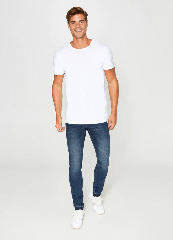 Washed and faded effect skinny fit stretch jeans   OVS