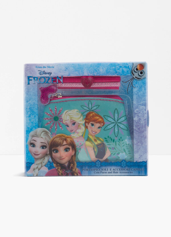 Frozen case and three hair elastics set