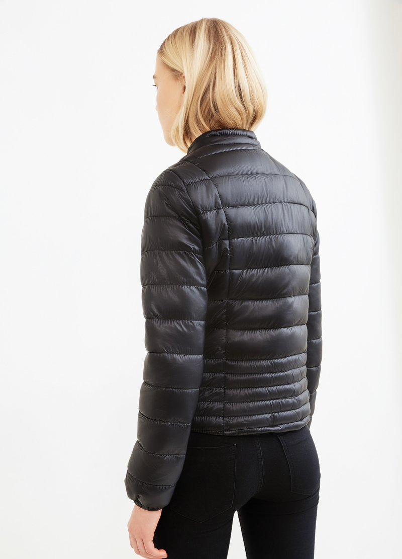 Solid colour down jacket with high neck image number null