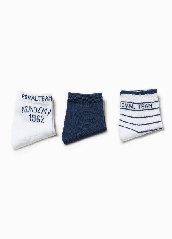 Three-pack socks with embroidery | OVS