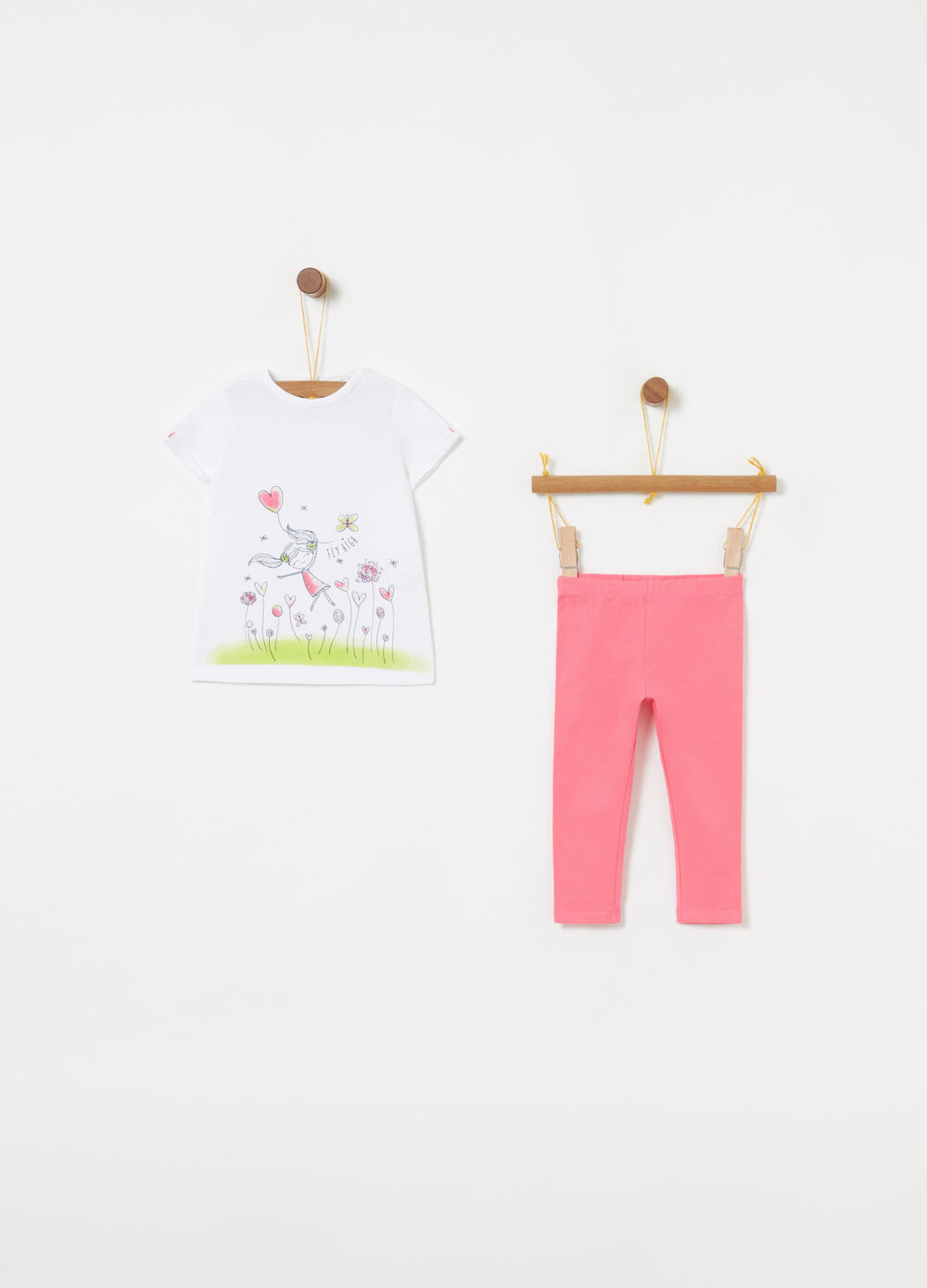 Jogging set biocotton t-shirt e leggings