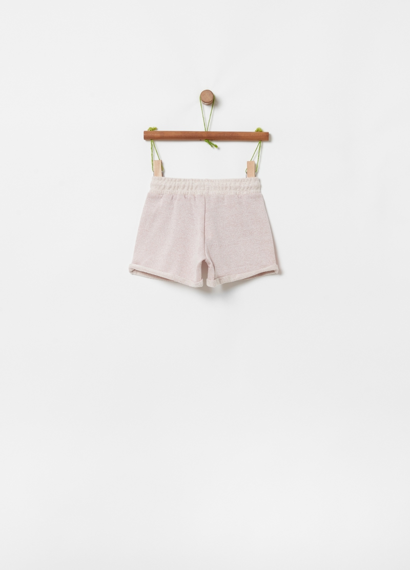 French terry organic cotton shorts image number null
