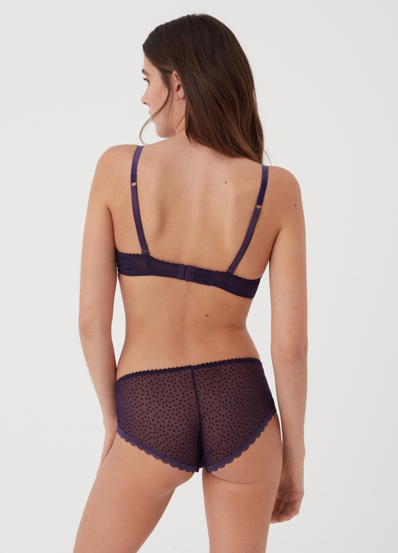 High-waisted regular-fit briefs with lace image number null