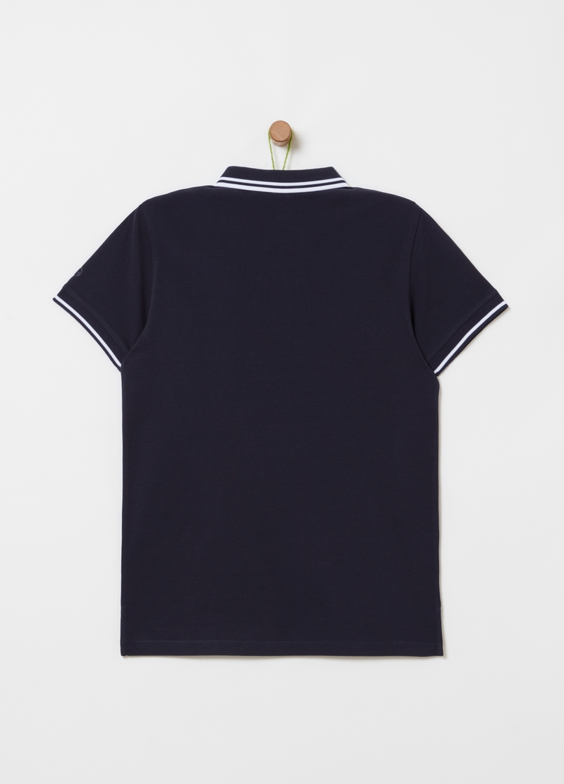 100% cotton piqué polo shirt image number null