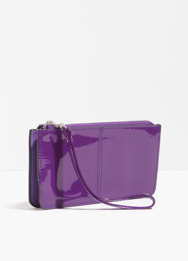 Shiny purse with strap