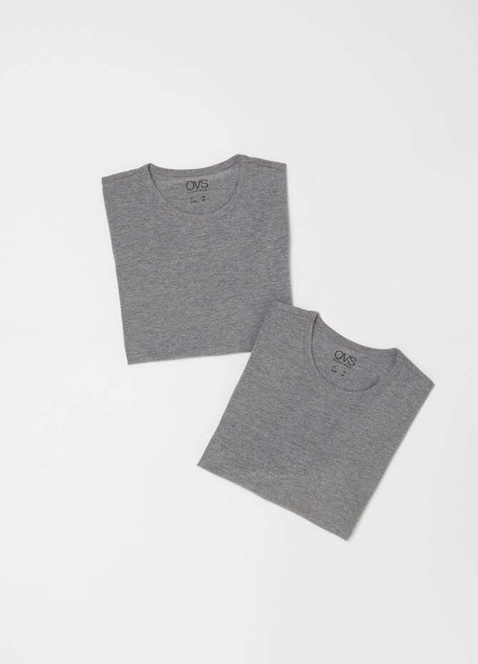 Two-pack stretch cotton undershirts