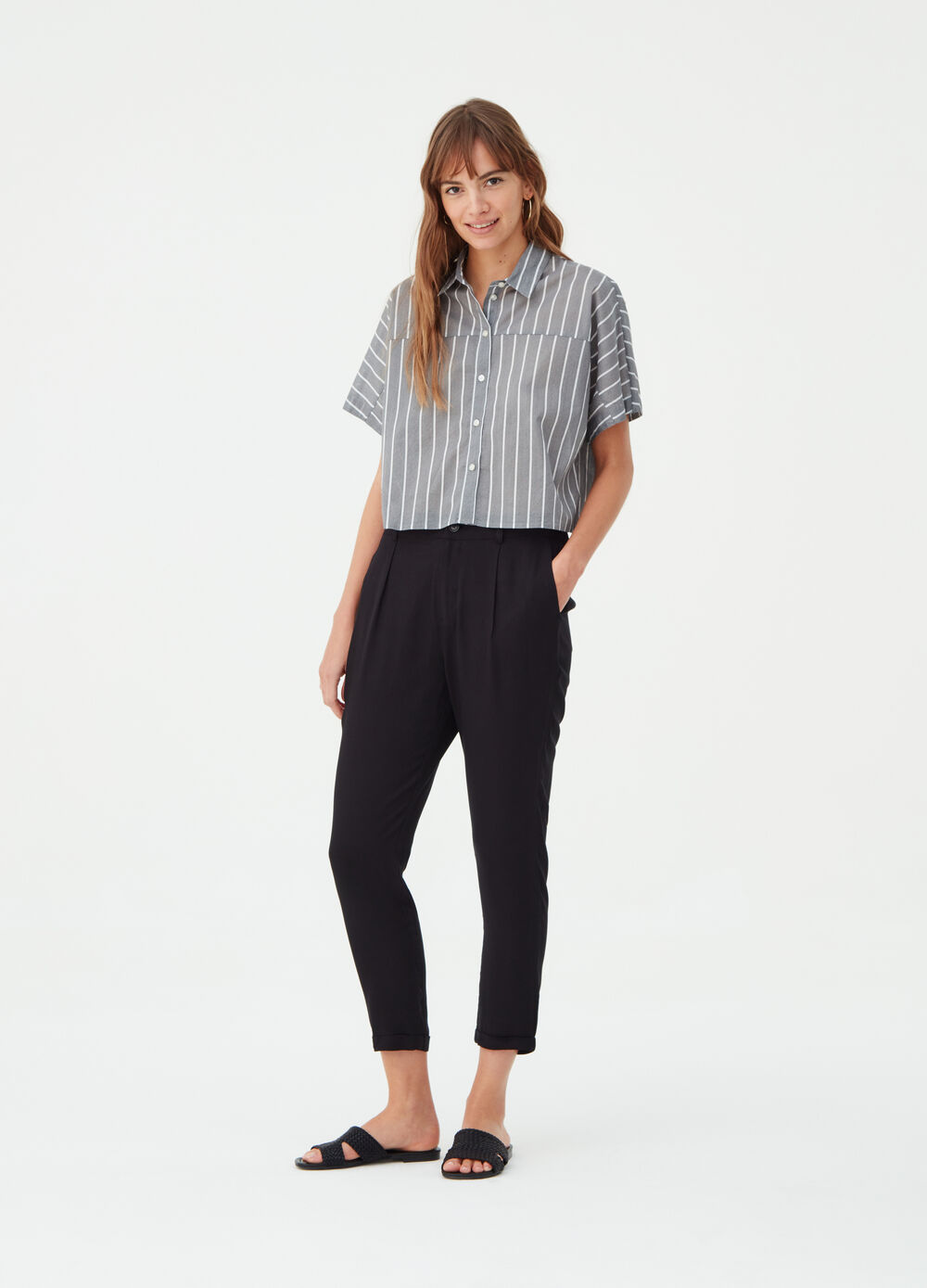 Cigarette trousers with pockets