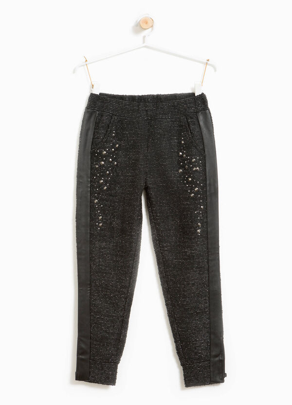 Trousers with studs | OVS