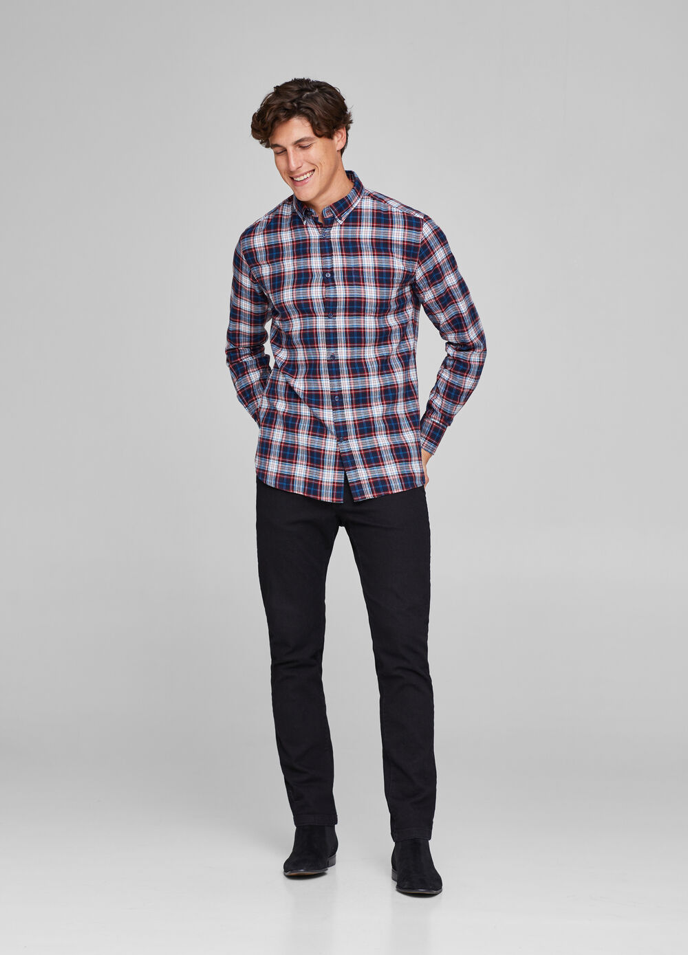 Shirt with check pocket