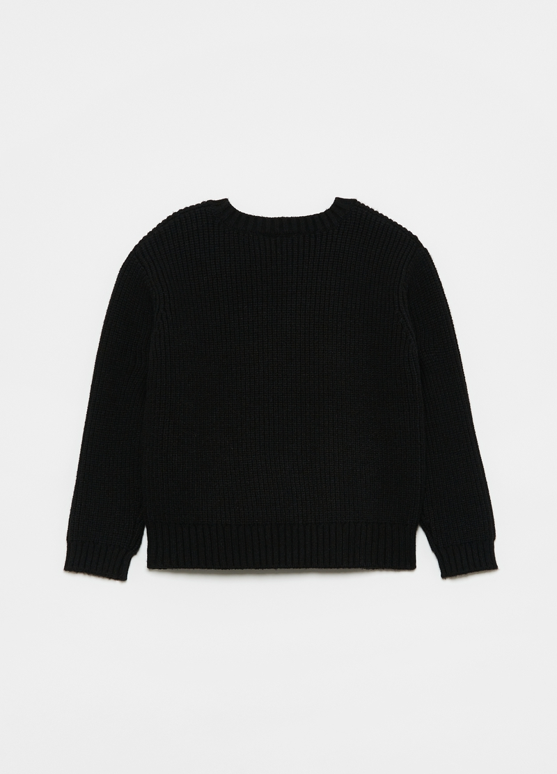 Pullover with round neck and beads image number null