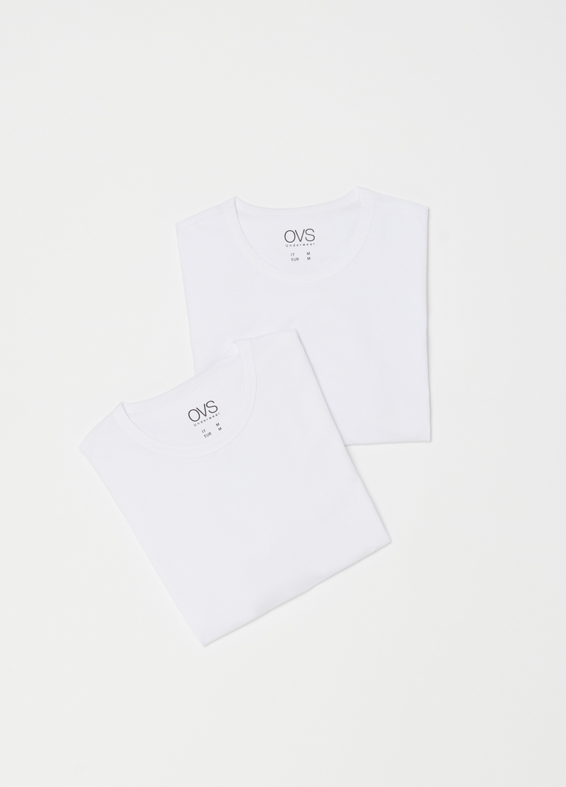 Two-pack solid colour undershirts image number null